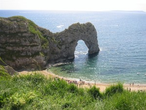 Durdle Door on the Heritage Coast footpath